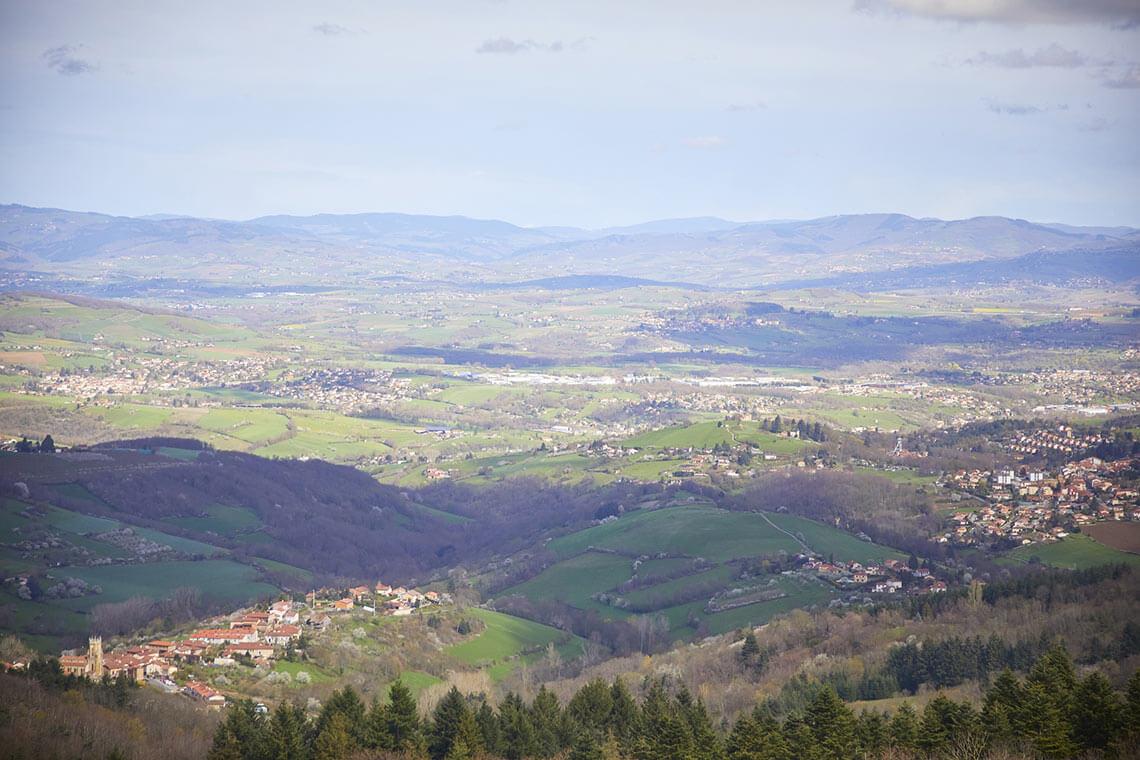 vue panoramique château saint bonne le froid